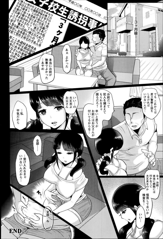 【エロ漫画】腹違いの兄に拉致監禁されたJCは鎖で拘束されて陵辱される…