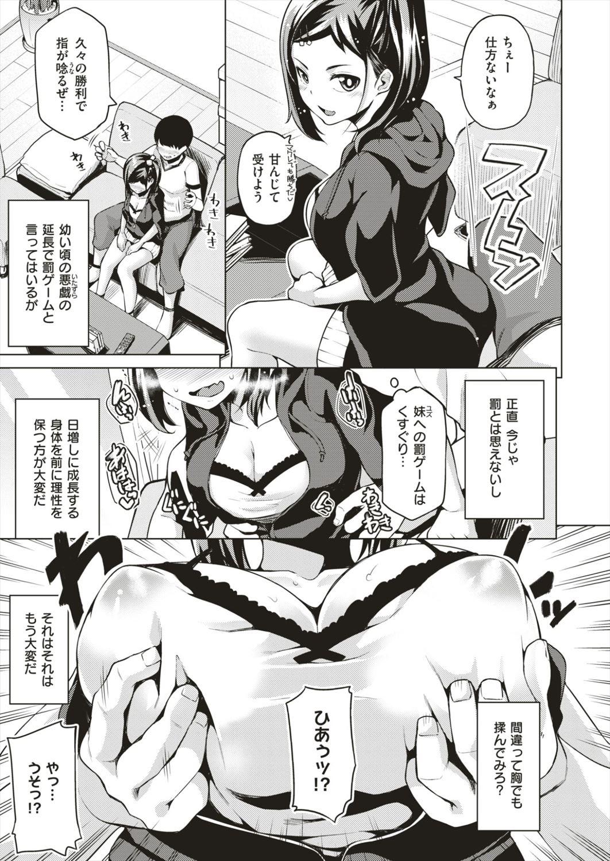 【エロ漫画】ゲームに負けたら罰ゲームで妹に乳首責めやフェラチオして最後にはだいしゅきホールドで近親相姦兄妹姦セックスしちゃうwww